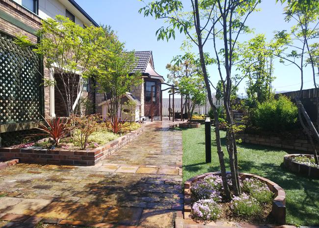 築22年の自宅の庭